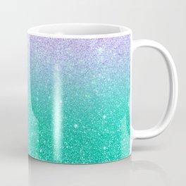 Mermaid purple teal aqua FAUX glitter ombre gradient Coffee Mug
