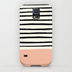 Peach x Stripes Slim Case Galaxy S5