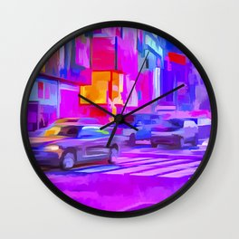 Times Square Pop Art Wall Clock
