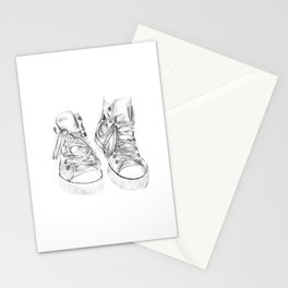 Hightop Shoes Illustration  Stationery Cards