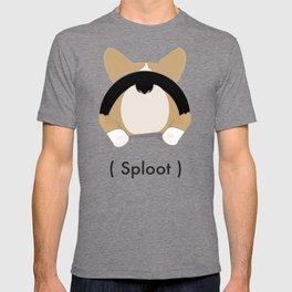 Tri Corgi Sploot T-shirt