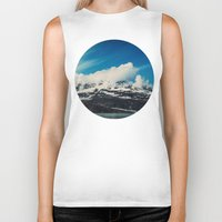 alaska Biker Tanks featuring Alaska Mountain by Leah Flores