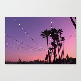 Lit Sunset Canvas Print