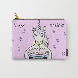 Happy Birthday Unicorn (rose/pink) Carry-All Pouch