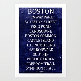 Boston 2 Art Print