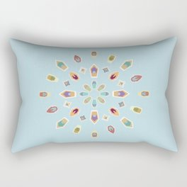 "Mandala ""Abstracted Boats"" Rectangular Pillow"