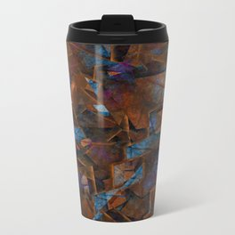 Frsgments In Bronze - Abstract Textured Art Travel Mug