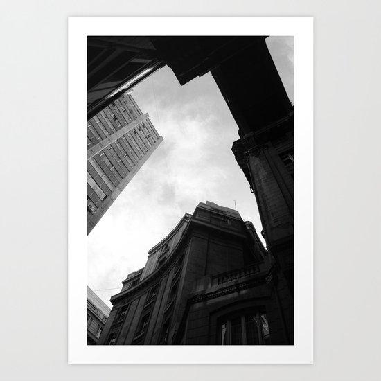 Through the city Art Print
