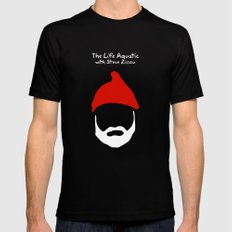 The Life Aquatic with Steve Zissou LARGE Mens Fitted Tee Black