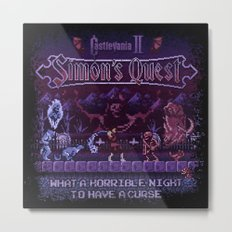 Simon's Vania Castle Quest Metal Print