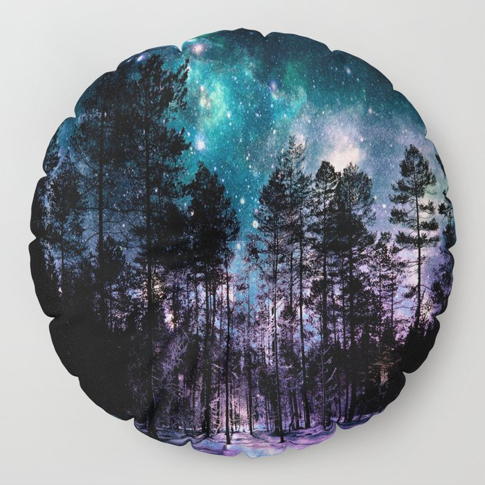 One Magical Night... teal & purple Floor Pillow