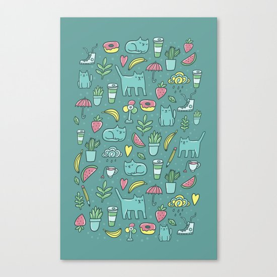 Things I love Canvas Print