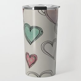 heart collage Travel Mug