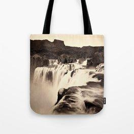 Vintage Waterfall Tote Bag