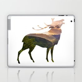Elk Silhouette with Wilderness Inlay Laptop & iPad Skin