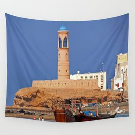 Oman Sur port Wall Tapestry