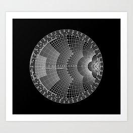 Smith Charts Black Art Print