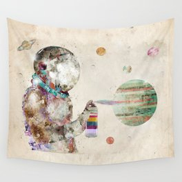 space graffiti Wall Tapestry
