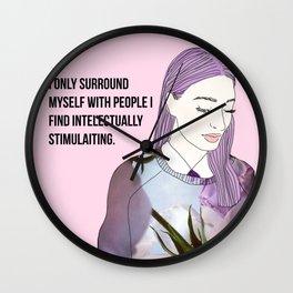 Intelectually stimulating  Wall Clock