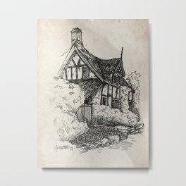Cottage at Alderley Edge Metal Print