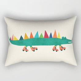Crocodile on Roller Skates Rectangular Pillow