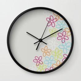 My dancing flowers Wall Clock