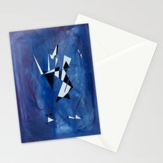 blue pattern art  Stationery Cards