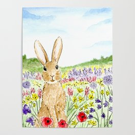 Bunny in the Meadow Poster