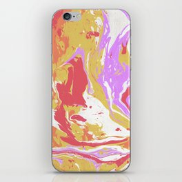 Abstract paint drops iPhone Skin