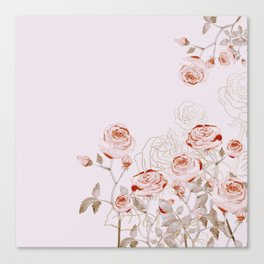 FRENCH PALE ROSES Canvas Print