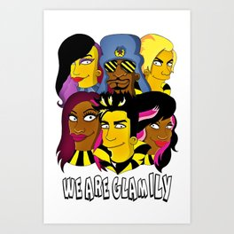 WE ARE GLAMILY (the Simpsons version) Art Print