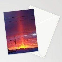 Winter Light Pillar Stationery Cards