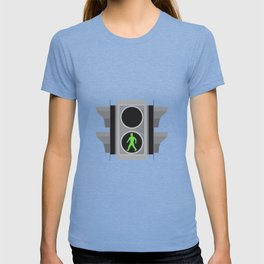 Traffic Light Man Walking Retro T-shirt