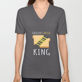 Grilled Cheese King BBQ Unisex V-Neck