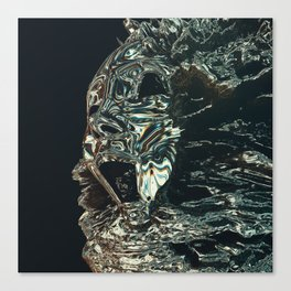 Hologram Drip Canvas Print
