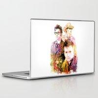 david tennant Laptop & iPad Skins featuring David Tennant / Tenth Doctor Mixed Media Digital Painting by Purshue