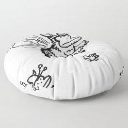 Vanguard of the Viking Ape-Bee Raiding Party Floor Pillow