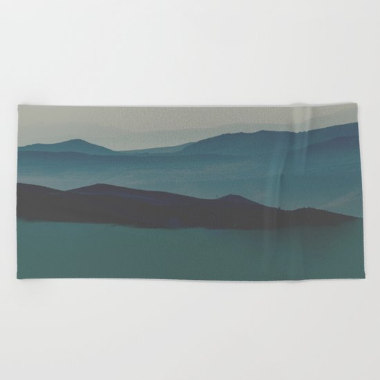 Blue valley Beach Towel