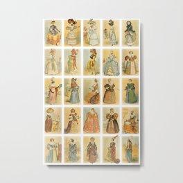 Vintage Paris Fashion Collage Metal Print