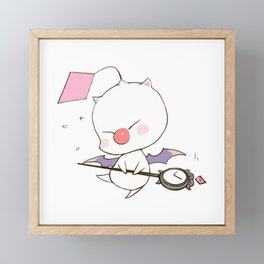 Struggling Mog Framed Mini Art Print
