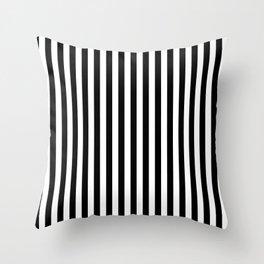 Vertical Striped (Black & White Pattern) Throw Pillow