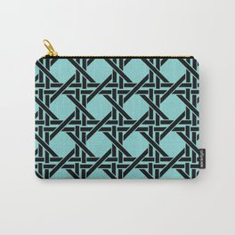 Rectangles Graphic Design - Turquoise Carry-All Pouch