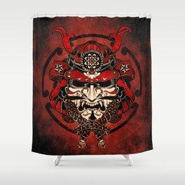 Samurai Mask, Budo, Bushido, Shower Curtain