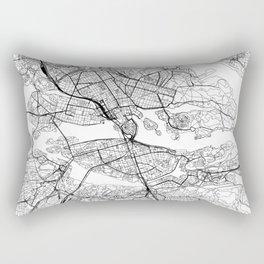 Stockholm White Map Rectangular Pillow