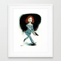 dana scully Framed Art Prints featuring Dana Scully by David R. Vallejo