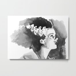 The Bride (profile) Metal Print