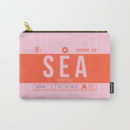 Luggage Tag B - SEA Seattle USA Carry-All Pouch