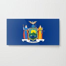 Flag of New York Metal Print