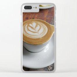 Latte with Love Clear iPhone Case