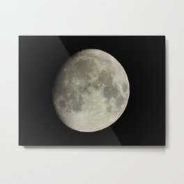 Almost Full Moon Metal Print